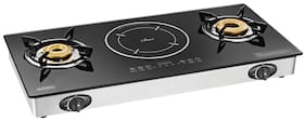 Padmini HYBRID Gas Stove Plus induction cooker (Manual Ignition)