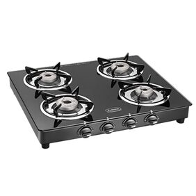 Padmini Prima Crystal Black 4 Burner Gas Stove