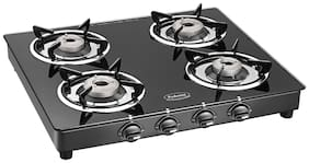 Padmini 4 Burners Gas Stove - Black