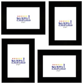 PADYAL Wood Black Wall hanging ( Set of 4 )