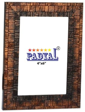 PADYAL Wood Copper Single frame ( Set of 1 )