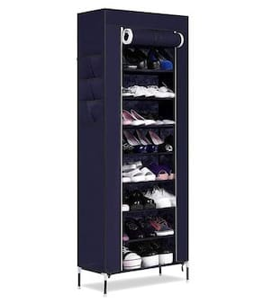 PAFFY Iron Shoe Rack ( Navy Blue )