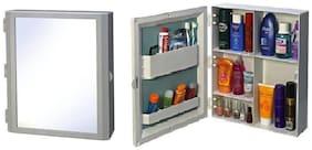 PAffy Flora Multipurpose Bathroom Mirror Cabinet - Color - White