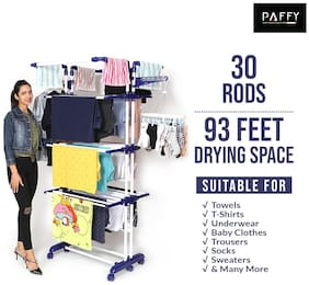 PAFFY Kingjumbo-blue-white Polypropylene Foldable Floor Cloth Dryer ( Blue & White ,Maximum Load: 20 kg )