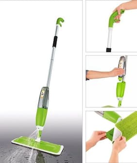 PAffy Quick and easy 360 degree iGlide Instant Spray Mop (MultiColor) + 1 Extra Microfiber Mop Head