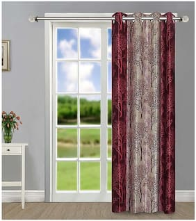 Palars London Polyester Curtain for Long Door - 9 ft (Pack Of 1,Maroon)
