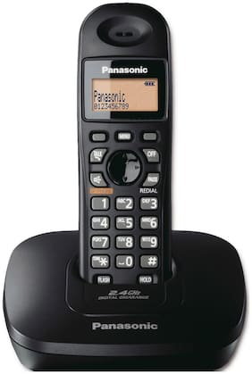 PANASONIC KX-TG3611SXB,2.4 GHz CORDLESS PHONE BLACK