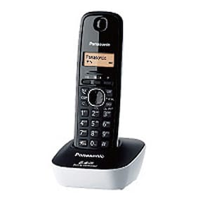 Panasonic KX-TG3411SX Cordless Landline Phone (Black & White)