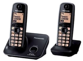 Panasonic Kxtg-3712 Cordless Landline Phone (Black)