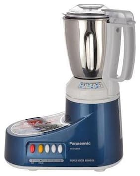 Panasonic MX-AC300S 550 W Mixer Grinder ( White & Blue , 3 Jars )