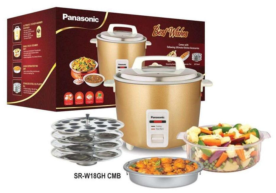 Panasonic SR-W18GH Combo 4.4 Litre 660 W Automatic Rice Cooker