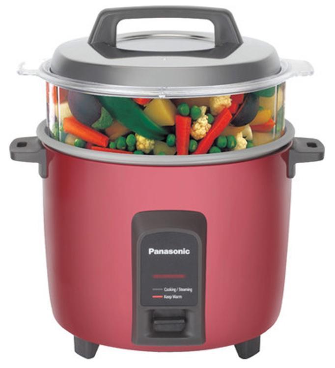Panasonic SR-Y22FHS 5.4-Litre 750-Watt Automatic Rice Cooker (Silver/Burgaundy)