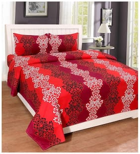 Panipat Direct Premium Quality Double Bedsheet With 2 Pillow Covers (PDS&SDB29)