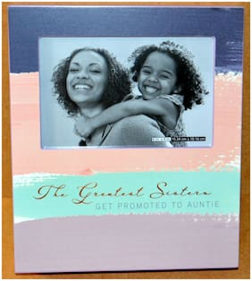 "PAPYRUS ""THE GREATEST SISTERS GET PROMOTED TO AUNTIE"" FRAME AUNT SISTER DAUGHTER"