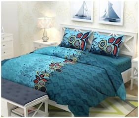 Paramorasi 104 TC Polycotton Double Bedsheet with Two Pillow Covers