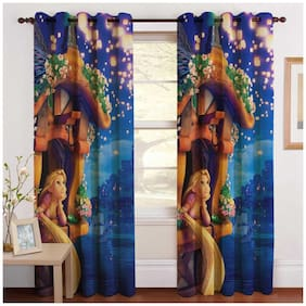 Paramorasi Super Concept Digitally Printed Blackout Curtain Single Pc (Size - Door 4 foot x 7 foot)