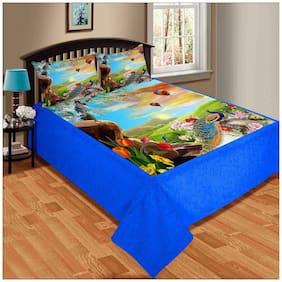 Paramorasi Superior Soft Touch Velvet Digital Print King Size Warm 200 TC Double Bedsheet - Size 228.6 cm (90 inch) x 254 cm (100 inch)