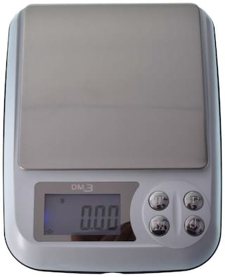 PARIJATA Jewellery & Kitchen Weighing Digital Compact Scale for Gold Balancing of 500gx0.01g Capacity