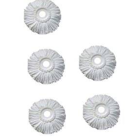 Parin Microfiber Spin Mop Refill (White, Pack of 5)