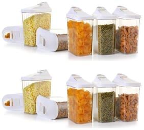 Patidar 1100 ml Transparent Plastic Container Set - Set of 12