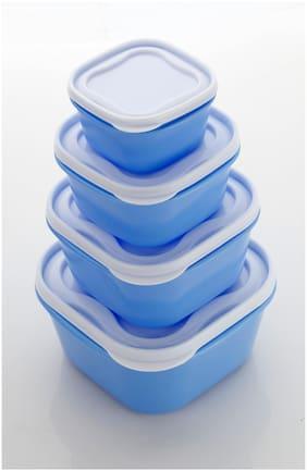 Patidar 5000 ml Blue Plastic Container Set - Set of 4