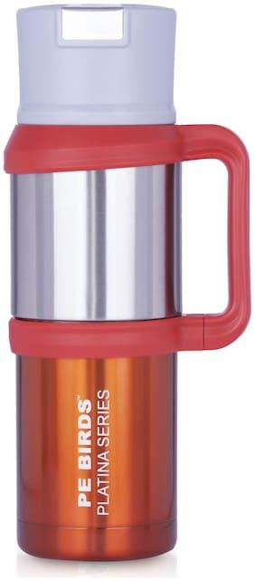 PE BIRDS Thermosteel Flask Set of 1 ( Orange , Stainless Steel ,  1200 ml )