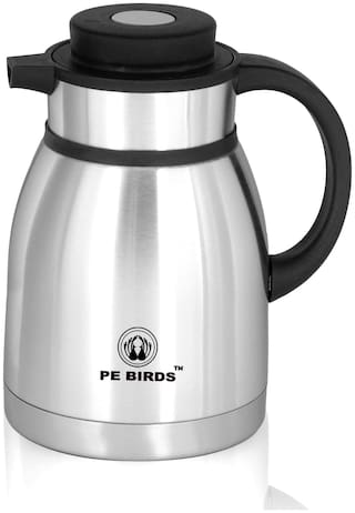 PE BIRDS Thermosteel Flask Set of 1 ( Silver , Stainless Steel ,  2000 ml )