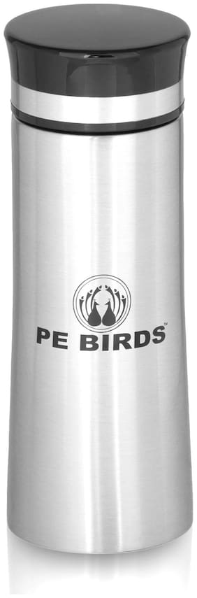 PE BIRDS Thermosteel Flask Set of 1 ( Silver , Stainless Steel ,  350 ml )