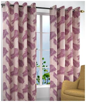 Peponi 1 pcs of Polyester Eyelet Polyester Window Curtain - 5ft,