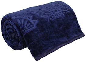 Peponi 2 kg Floral Embossed Mink Single Bed Blanket For Heavy Winters