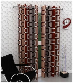 Peponi 2 Piece Eyelet Polyester Door Curtain - 7ft,