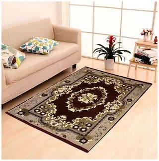 Peponi Carpet, 10 ft x 12 ft XXXL Size, Chenille Velvet Feel, Coffee Brown