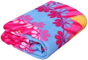 Peponi Double Polar Fleece Floral Blanket 85X90 inch