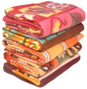 Peponi set of 5 pcs Double Bed fleece blanket