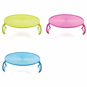 Perfect Pricee Multifunction Plastic Stand Holder Double Layer Microwave Kitchen Plate Rack Anti Heat Microwave Bowl Holder Rack Kitchen Tool Oven Tray