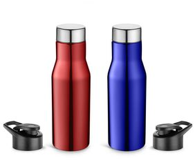 Pexpo Ideale Sleek Carry on Sports Bottle 750 ml With Extra Sipper Cap-HYDRO-Set of 2