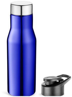 Pexpo Ideale Sleek Carry on Sports Bottle With Extra Sipper Cap 750 ml-HYDRO-Blue