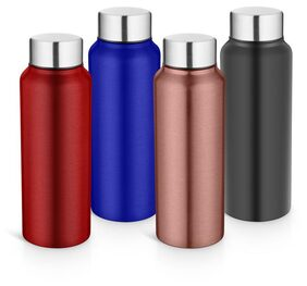 Pexpo Ideale Elegant Chromo Series Water Bottle 750 ml-Set Of 4