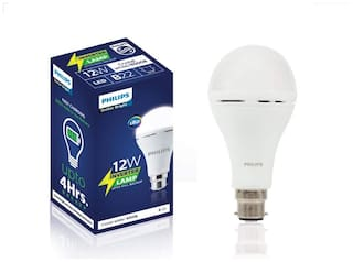 Philips 12W Inverter Rechargeable Emergency LED Bulb B22 6500K (Cool Day Light) - Pack of 1