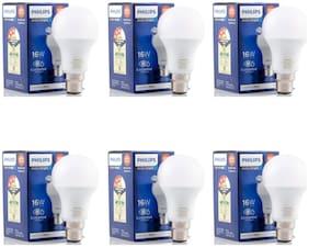 Philips 16W Stellar Bright LED Bulb B22 6500K (Cool Day Light) - Pack of 6