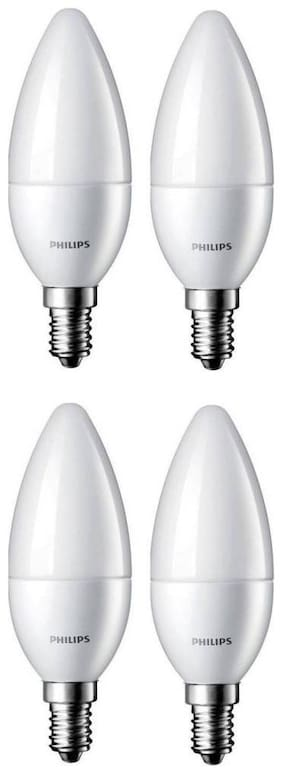 Philips 2.7 W Candle E14 LED Bulb (White;Pack of 4)