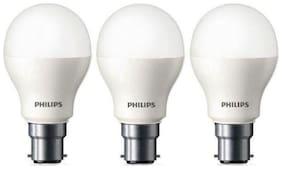 PHILIPS 7W B22 WHITE LED BULB PACK OF-03