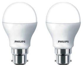 Philips 9 Watt B22 LED Bulb, White (Pack of 2)