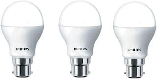 Philips 9 Watt B22 Pin Type LED Bulb Cool Daylight ( Pack Of 3 )