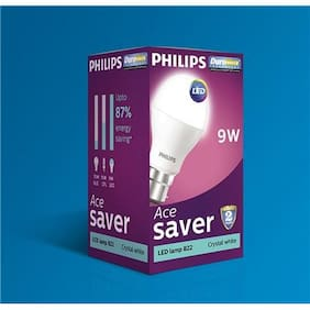 Philips 9 Watt B22 LED Bulb, Cool Daylight (Pack of 4)