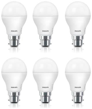 Philips Acesaver 9W LED Bulb 6500K Cool Day Light - Pack of 6