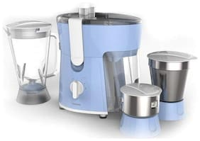Philips AMAZE HL7576/00 600 W Juicer Mixer Grinder ( White & Blue , 3 Jars )