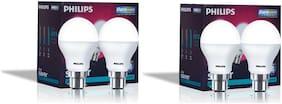 Philips Base B22 7-Watt LED Bulb (Pack of 4;Cool Day Light)