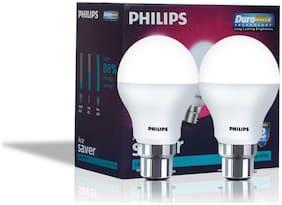 Philips Base B22 9-Watt LED Bulb (Pack of 2;Cool Day Light)