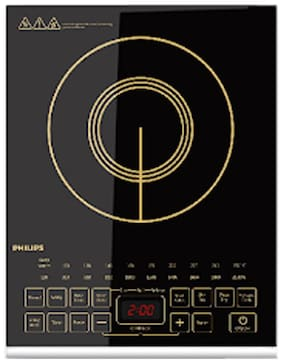 Philips HD4938 2100 W Induction Cooktop ( Black , Touch Panel Control)
